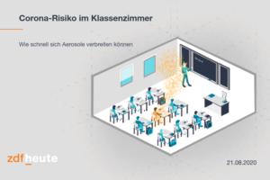 ZDFheute: Corona-Risiko im Klassenzimmer - Wie schnell sich Aerosole verbreiten können