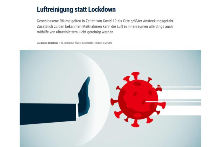 Gastgewerbe Magazin: Luftreinigung statt Lockdown: Sichere Atemluft im Innenraum - dank UV-C-Licht