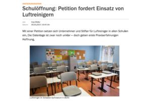 Schulöffnung: Petition fordert Einsatz von Luftreinigern