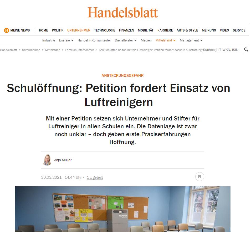SAS_Handelsblatt_Bericht_Petition-Schulen