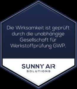 Sunny Air Solutions GWP Prüfsiegel