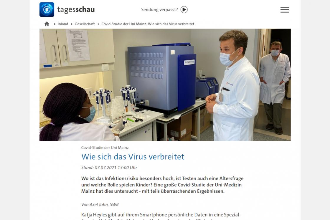 Tagesschau: Covid-Studie der Uni Mainz - Wie sich das Virus verbreitet